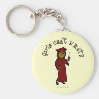 Dark Graduate in Red Keychain