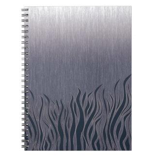 Dark Grassland Spiral Notebook