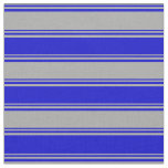 [ Thumbnail: Dark Gray and Blue Colored Lined/Striped Pattern Fabric ]