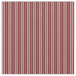 [ Thumbnail: Dark Gray and Dark Red Colored Lines Pattern Fabric ]