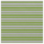[ Thumbnail: Dark Gray and Green Lined Pattern Fabric ]