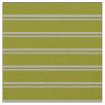 [ Thumbnail: Dark Gray and Green Lines Fabric ]