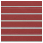 [ Thumbnail: Dark Gray and Maroon Lined/Striped Pattern Fabric ]