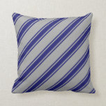 [ Thumbnail: Dark Gray and Midnight Blue Colored Pattern Pillow ]