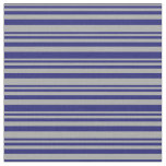 [ Thumbnail: Dark Gray and Midnight Blue Lined Pattern Fabric ]