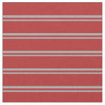 [ Thumbnail: Dark Gray and Red Colored Striped Pattern Fabric ]