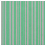 [ Thumbnail: Dark Gray and Sea Green Colored Stripes Fabric ]