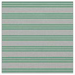 [ Thumbnail: Dark Gray and Sea Green Stripes Fabric ]