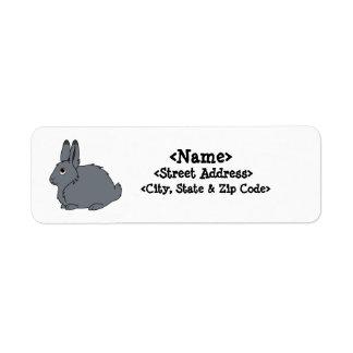 Dark Gray Arctic Hare Label