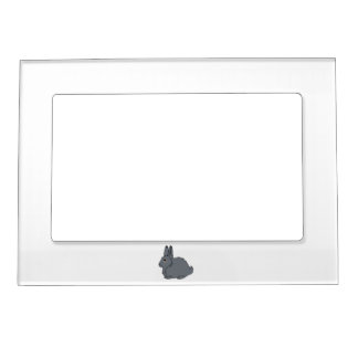 Dark Gray Arctic Hare Magnetic Picture Frame