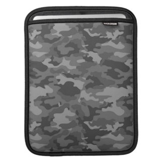 Dark Gray Army Military Camo Camouflage Pattern iPad Sleeve