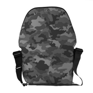Dark Gray Army Military Camo Camouflage Pattern Messenger Bags