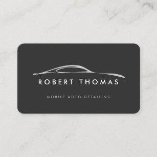 Auto repair business cards zazzle dark gray auto detailing auto repair business card colourmoves