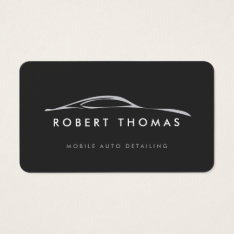 Dark Gray Auto Detailing, Auto Repair Business Card at Zazzle