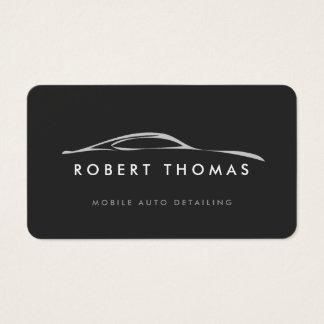 Dark Gray Auto Detailing, Auto Repair Business Card