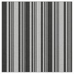 [ Thumbnail: Dark Gray & Black Colored Stripes Fabric ]