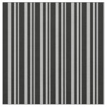 [ Thumbnail: Dark Gray & Black Striped Pattern Fabric ]