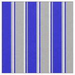 [ Thumbnail: Dark Gray, Blue, and Light Yellow Colored Stripes Fabric ]