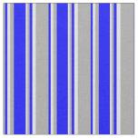 [ Thumbnail: Dark Gray, Blue & Lavender Pattern Fabric ]