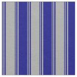 [ Thumbnail: Dark Gray & Blue Lines Fabric ]