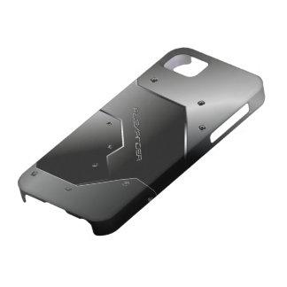Dark Gray Brushed Aluminum Metal Look-Monogram iPhone SE/5/5s Case