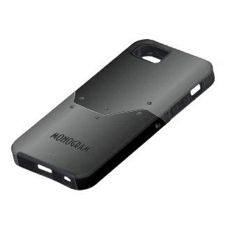 Dark Gray Brushed Aluminum Metallic Look iPhone SE/5/5s Case