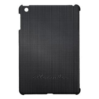 Dark Gray Brushed Metal Look Cross Stitch Pattern Case For The iPad Mini
