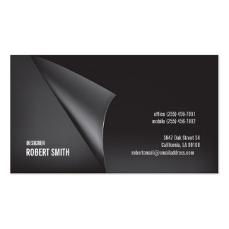 Dark Gray Business Card Double Sided