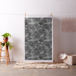 Dark Gray Camo Camouflage Military Army Pattern Fabric