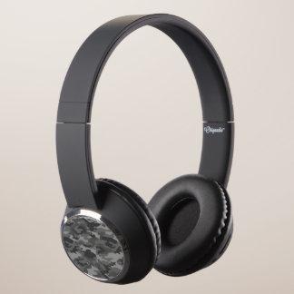 Dark Gray Camo Camouflage Military Army Pattern Headphones
