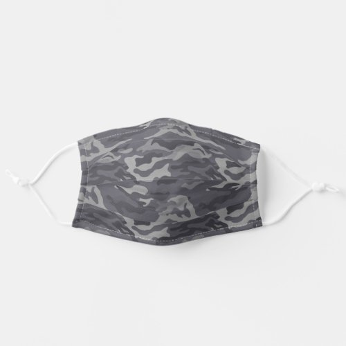 Dark Gray Camo Pattern Cloth Face Mask