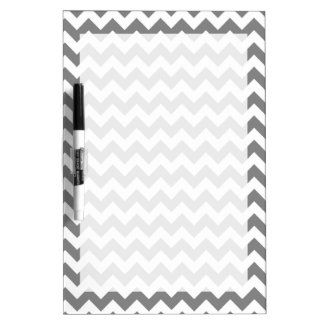 Dark Gray Chevron; zig zag Dry-Erase Whiteboards