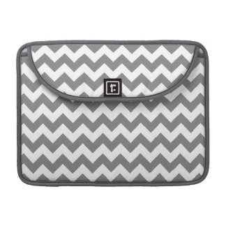 Dark Gray Chevron; zig zag Sleeve For MacBook Pro