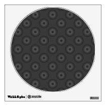 Dark Gray Circles Pattern. Wall Decal