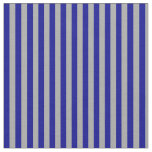 [ Thumbnail: Dark Gray & Dark Blue Stripes/Lines Pattern Fabric ]