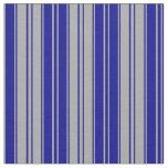 [ Thumbnail: Dark Gray & Dark Blue Stripes Pattern Fabric ]