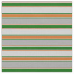 [ Thumbnail: Dark Gray, Dark Green, Light Gray, Chocolate Lines Fabric ]