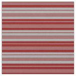 [ Thumbnail: Dark Gray & Dark Red Striped/Lined Pattern Fabric ]