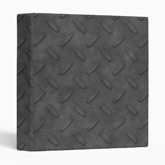 Dark Gray Diamond Plate Texture 3 Ring Binder