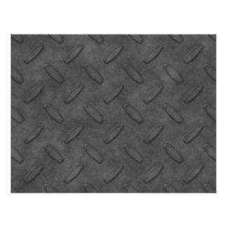 "Dark Gray Diamond Plate Texture 8.5"" X 11"" Flyer"