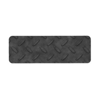 Dark Gray Diamond Plate Texture Label