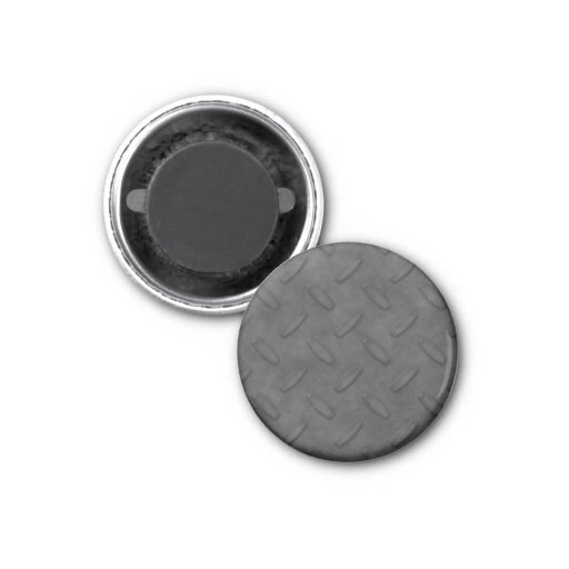 Dark Gray Diamond Plate Texture Fridge Magnet