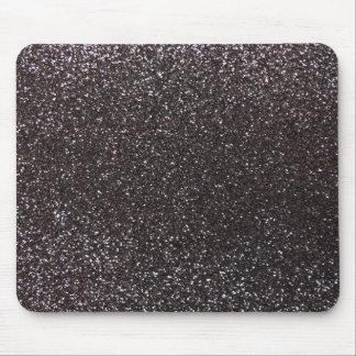Dark gray glitter mouse pad