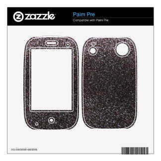 Dark gray glitter decal for the palm pre