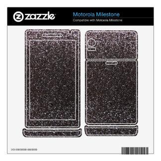 Dark gray glitter motorola milestone skins