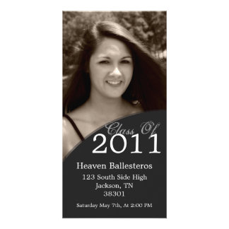 Dark Gray Graduation 2011 Photo Card Invites