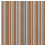 [ Thumbnail: Dark Gray, Grey, and Brown Colored Lined Pattern Fabric ]
