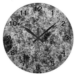 Dark Gray Grungy Abstract Design Clocks