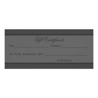 Dark Gray Heart Damask Rack Card