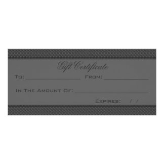 Dark Gray Heart Damask Personalized Rack Card